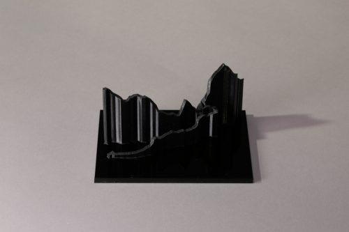 parcours 3D marathon du mont Blanc noir noir