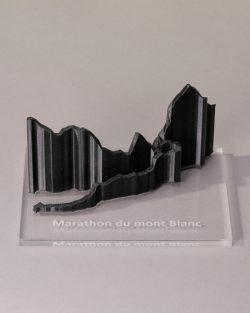 parcours 3D marathon du mont Blanc noir transparent