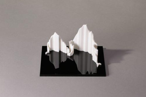 parcours 3D Marathon-Race Annecy blanc noir