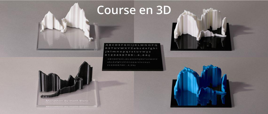 Souvenirs de course représentation 3D personnalisable