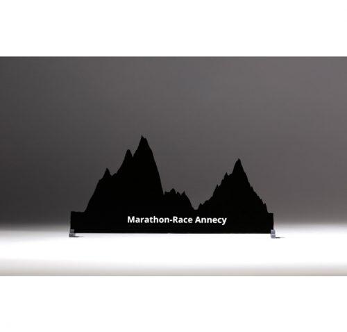 profil marathon-race Annecy noir