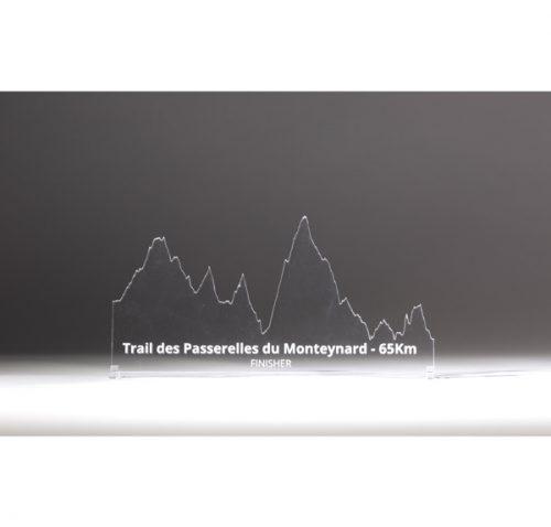 profil trail des passerelles du Monteynard