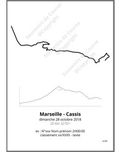 poster marseille cassis - profil