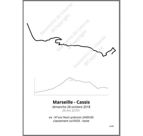 poster marseille cassis - profil