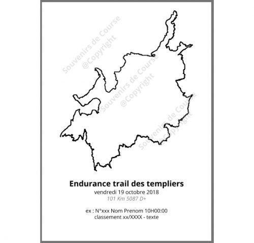 poster endurance trail des templiers