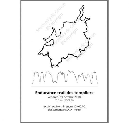 poster endurance trail des templiers - trail
