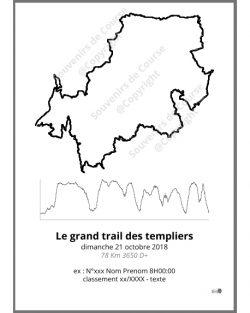 poster le grand trail des templiers - trail
