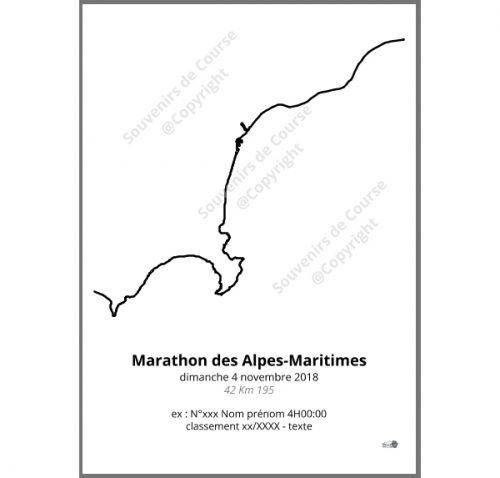 poster marathon des Alpes Maritimes