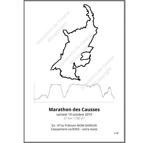 poster marathon des causses - trail