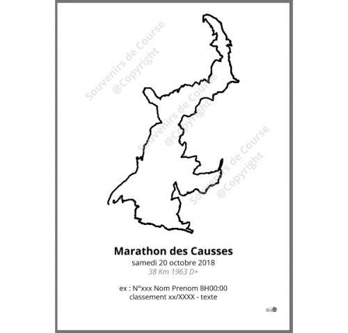 poster marathon des causses - les templiers