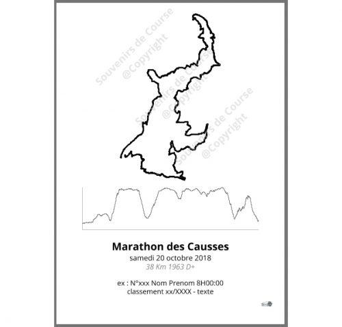 poster marathon des causses - trail les templiers