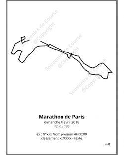 poster marathon de Paris