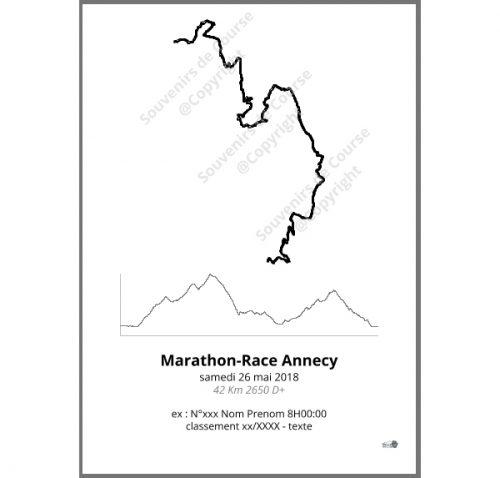 poster marathon-race Annecy - trail