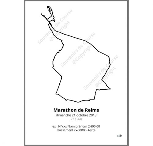 poster marathon de Reims