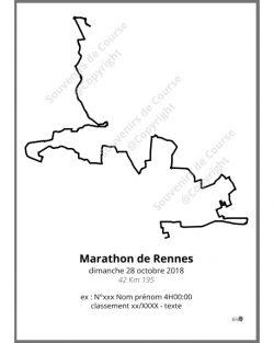 poster marathon de Rennes