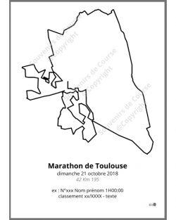 poster marathon de Toulouse