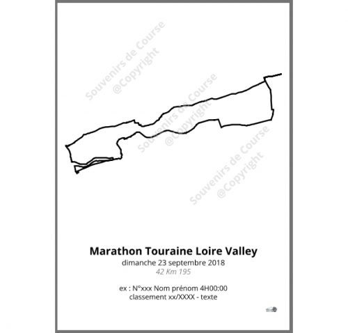 poster marathon Touraine Loire Valley