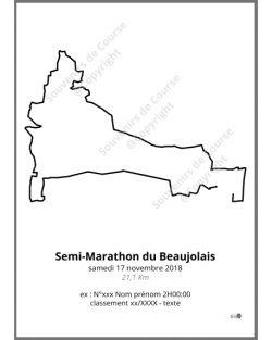 poster semi-marathon du Beaujolais