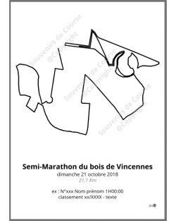 poster semi-marathon du bois de Vincennes