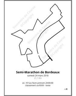 poster semi-marathon de Bordeaux