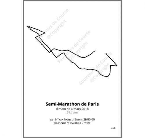 poster semi-marathon de Paris