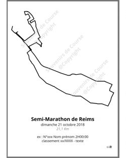 poster semi-marathon de Reims