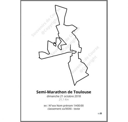 poster semi-marathon de Toulouse