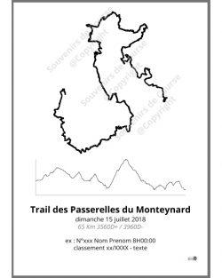 poster trail des passerelles du Monteynard trail
