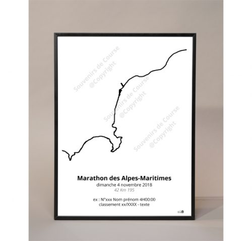 photo poster marathon des Alpes-Maritimes