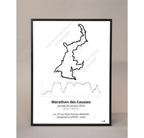 photo poster marathon des causses - trail les templiers