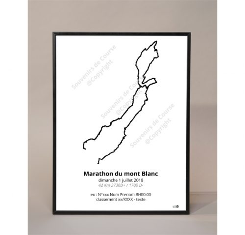 photo poster marathon du mont Blanc
