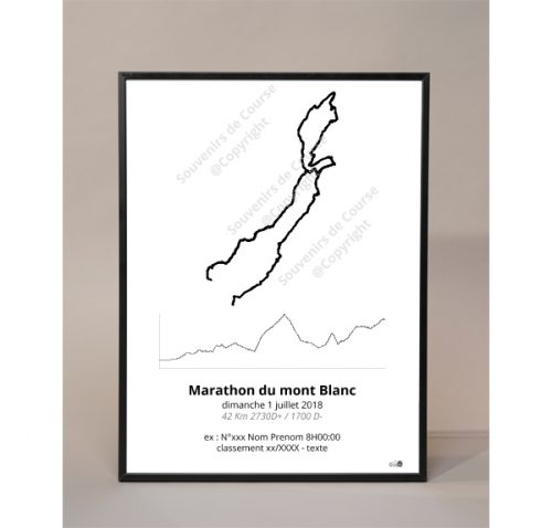 photo poster marathon du mont Blanc trail