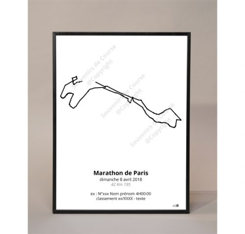 photo poster marathon de Paris