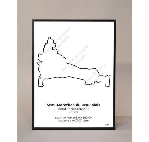 photo poster semi-marathon du beaujolais
