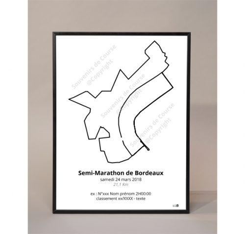 photo poster semi-marathon de Bordeaux