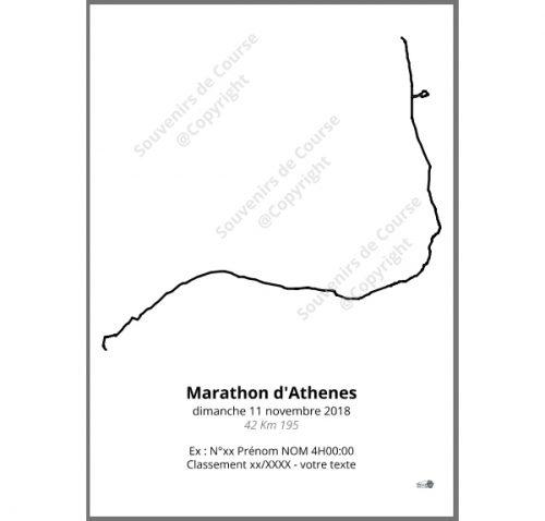 poster marathon d'Athenes