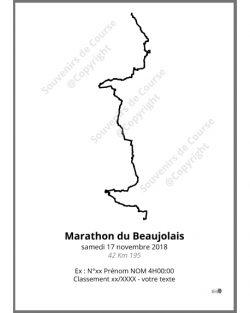 poster marathon du Beaujolais