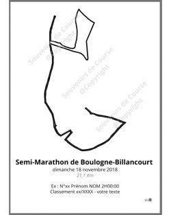 poster semi-marathon de Boulogne-Billancourt