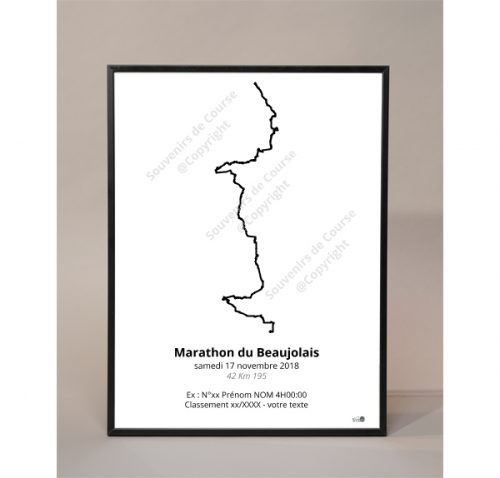 photo poster marathon du Beaujolais