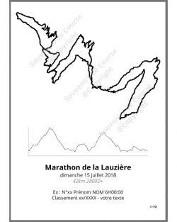 poster marathon de la lauziere - trail