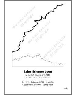 poster saintelyon - trail