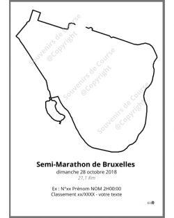 poster semi-marathon de Bruxelles