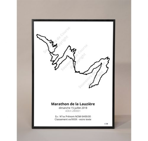 photo poster marathon de la lauziere