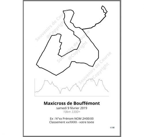 poster maxicross de bouffemont 10km - trail