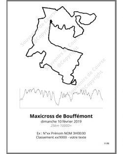 poster maxicross de bouffemont 25km - trail