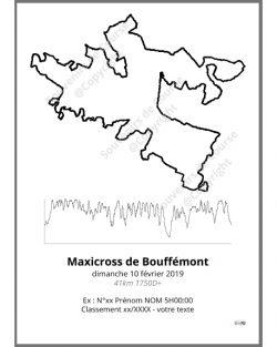 poster maxicross de bouffemont 41km - trail