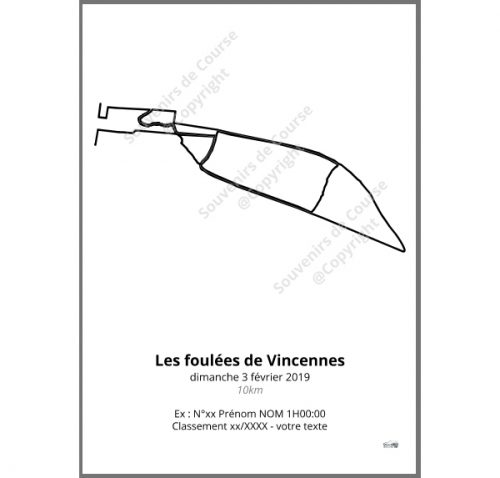 poster les foulées de Vincennes