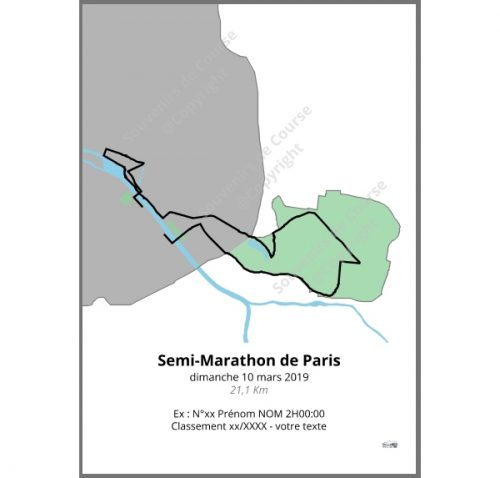 poster semi-marathon de Paris 2019 couleur