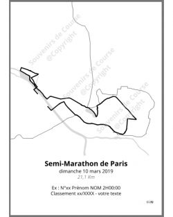 poster semi-marathon de Paris 2019 contour