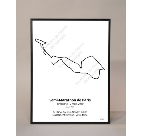 photo poster semi-marathon de Paris 2019